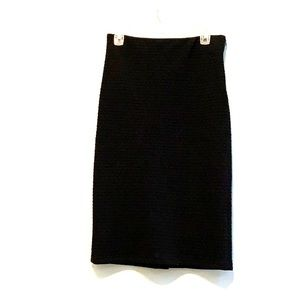 Loft black skirt with side zip size small